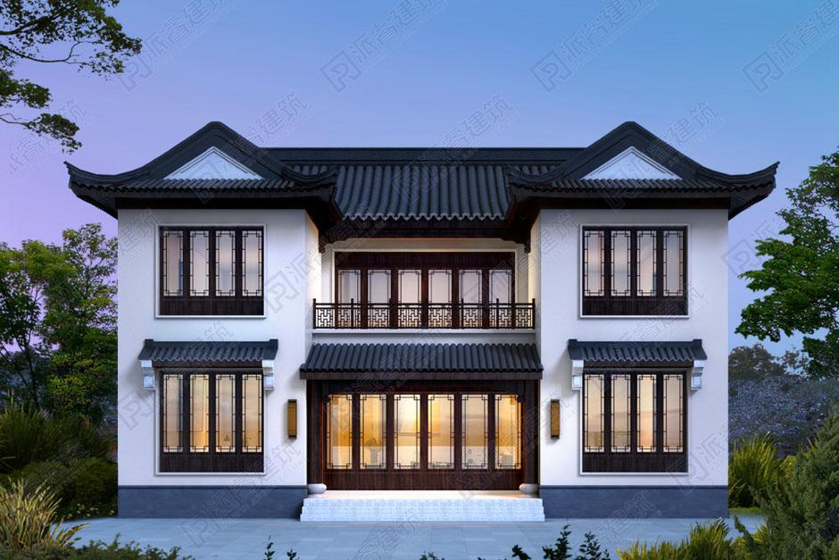 農村自建中式二層別墅設計效果圖.jpg
