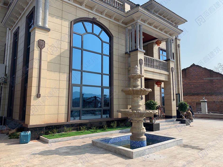 湖南衡阳-农村自建三层高档复式别墅设计图纸及效果图,气派十足