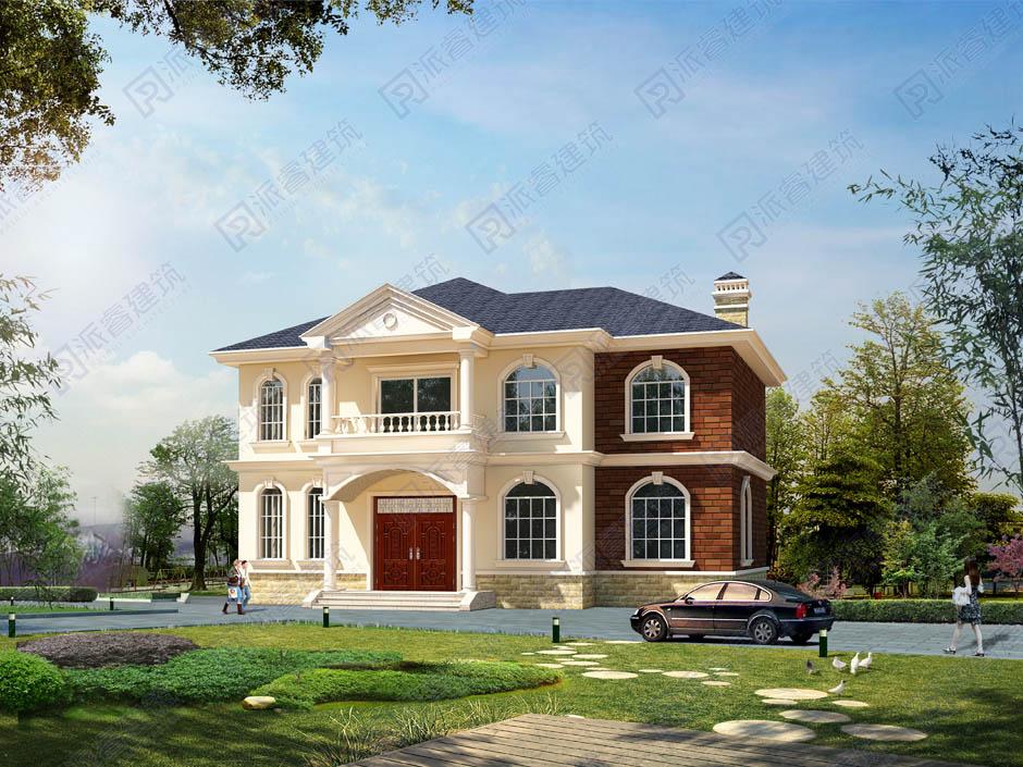 PR146 二层农村自建房_别墅设计图纸,新农村房屋设计图,农村自建房设计,派睿建筑