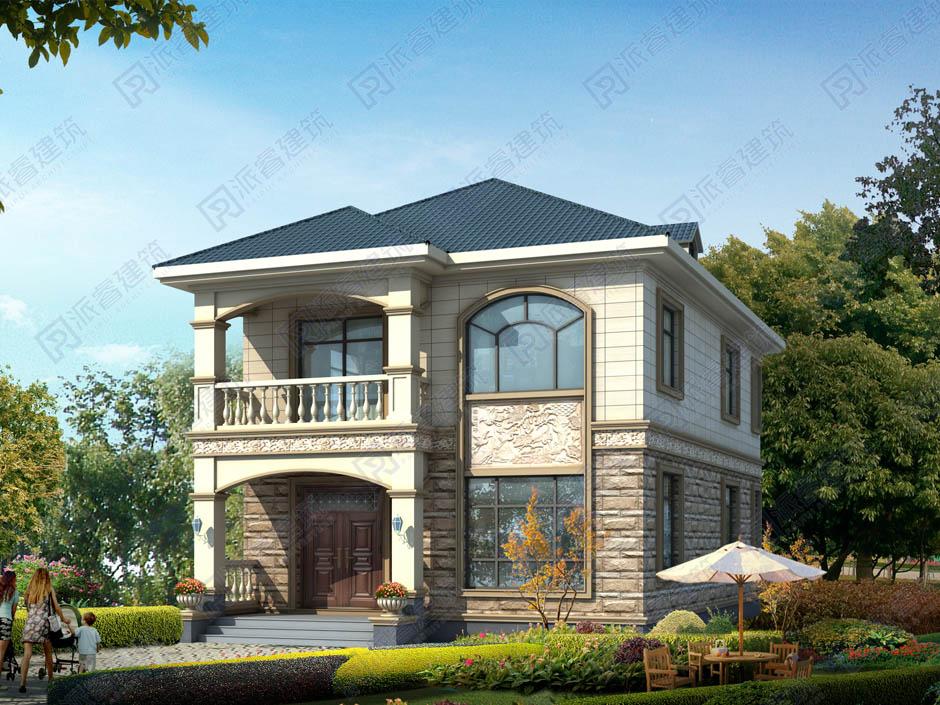 PR465 农村二层别墅外观大气全套设计,施工图全套图纸-派睿建筑