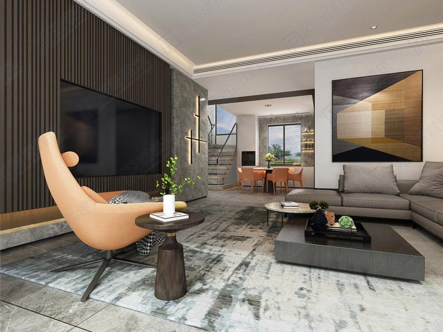 灵动咖啡|三层农村自建别墅现代风格装修设计效果图