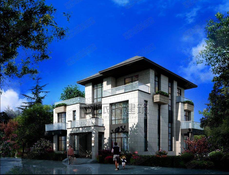 農村自建三層別墅設計圖紙及效果圖-復式挑空帶堂屋和柴火灶,適合三代人同住-PR445