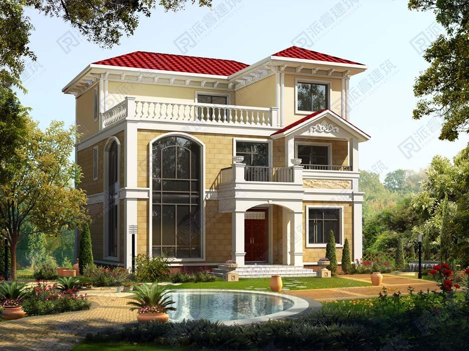 PR182-新热门的_三层新农村住宅设计图纸_复式带露台