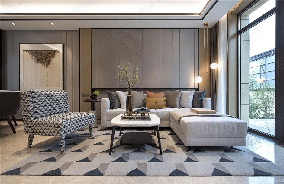 现代时尚室内客厅装修设计效果图