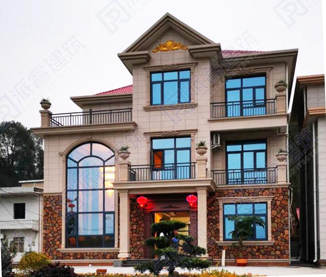 江西萍乡-农村自建房设计图三层|时尚农村自建小别墅设计图片 实景