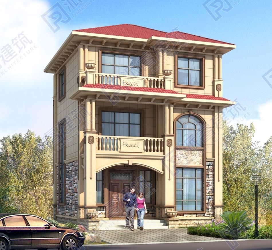 PR546-农村自建三层别墅设计图纸及效果图_开间8米*进深9米-派睿建筑