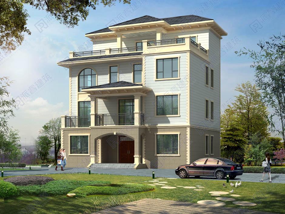 PR233 简欧四层豪华别墅设计全套施工图纸,别墅图片,派睿建筑