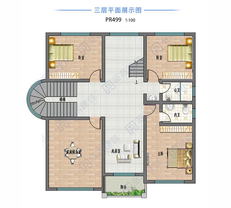 农村现代风格别墅设计外观图pr499(4).jpg
