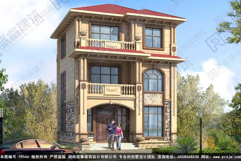 欧式三层别墅设计图纸及效果图大全pr546(1.jpg