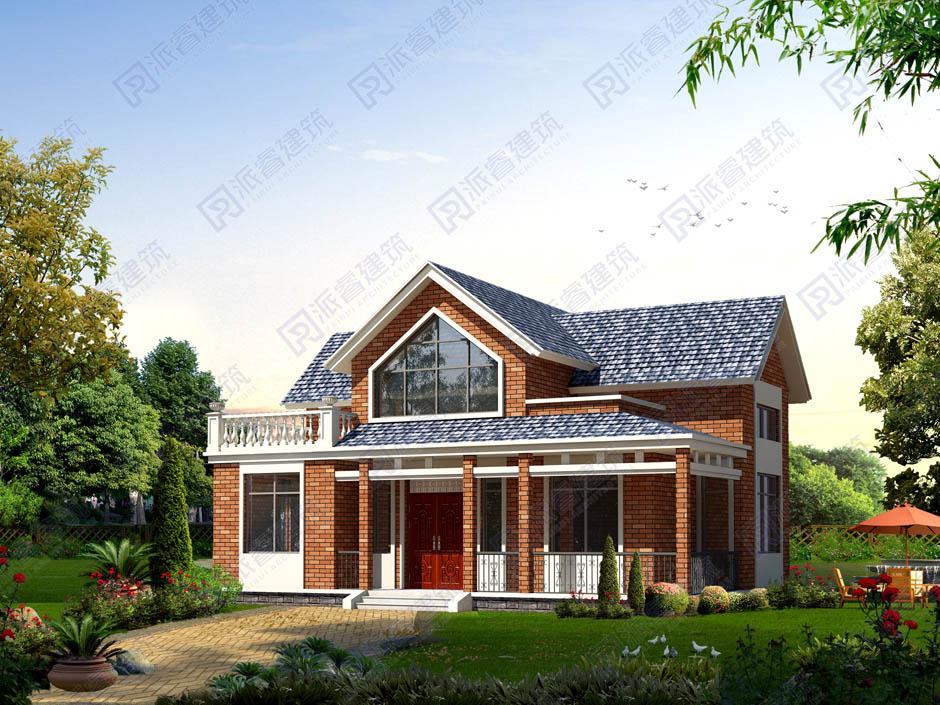 PR170 带阁楼100平米农村自建一层别墅建筑设计图-派睿建筑