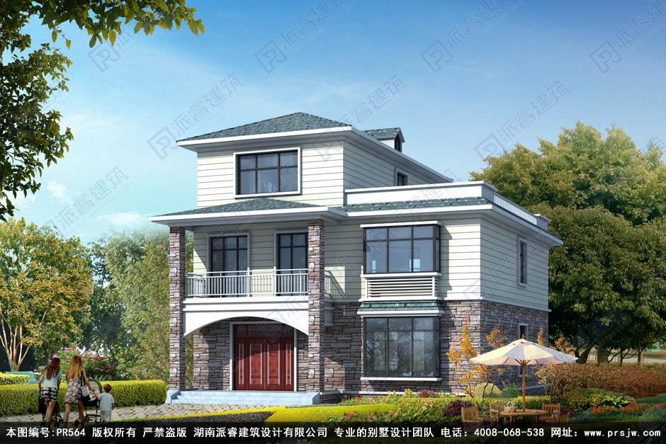 三层别墅设计图纸及外观效果图带堂屋 (2).jpg