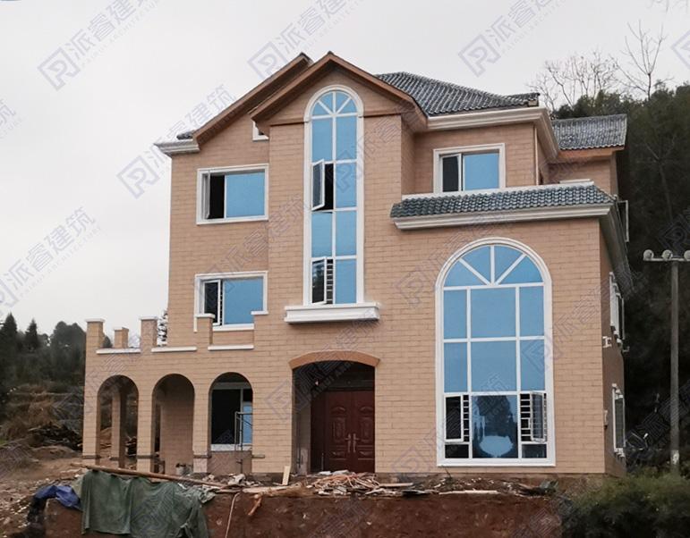 江西赣州-最新乡村自建英式风格别墅设计实景图片