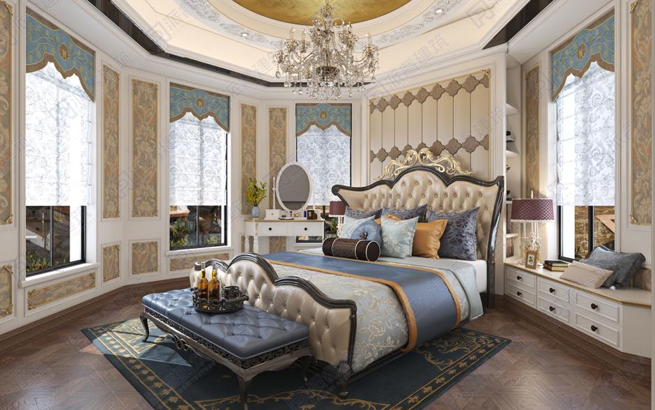 PR152 豪华欧式三层复式客厅房间室内装修效果图