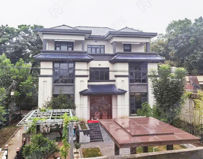 河南-郑州 农村新中式独栋别墅设计实景图片-X075