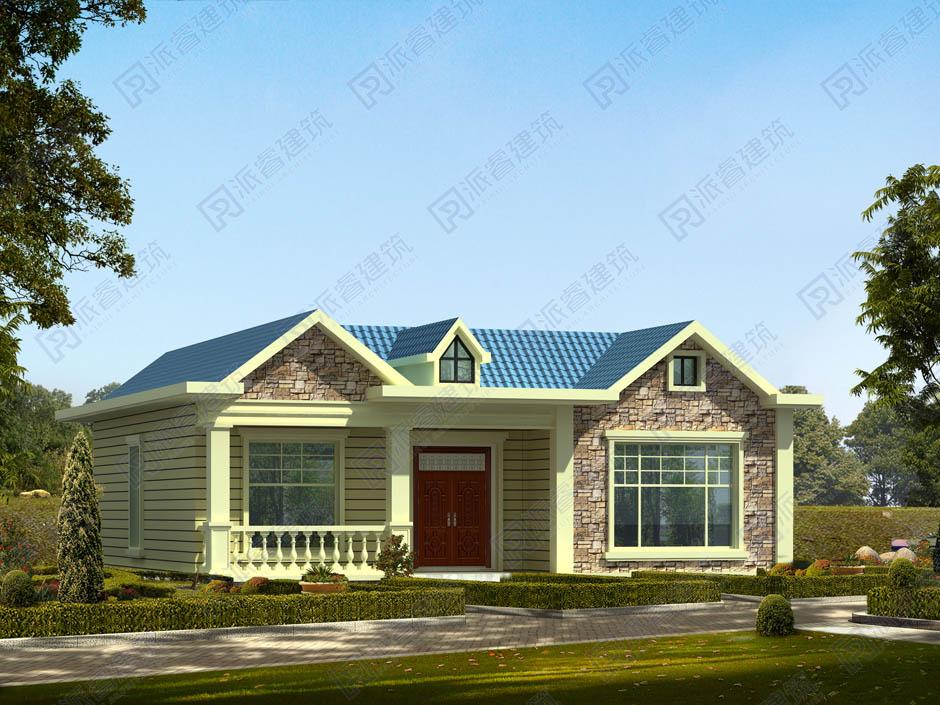 PR250 现代农村一层别墅130平米建筑设计户型图-派睿建筑