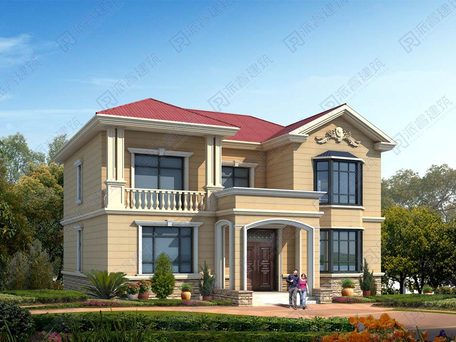 PR458 农村二层大气美观别墅设计全套设计,施工图全套图纸-派睿建筑