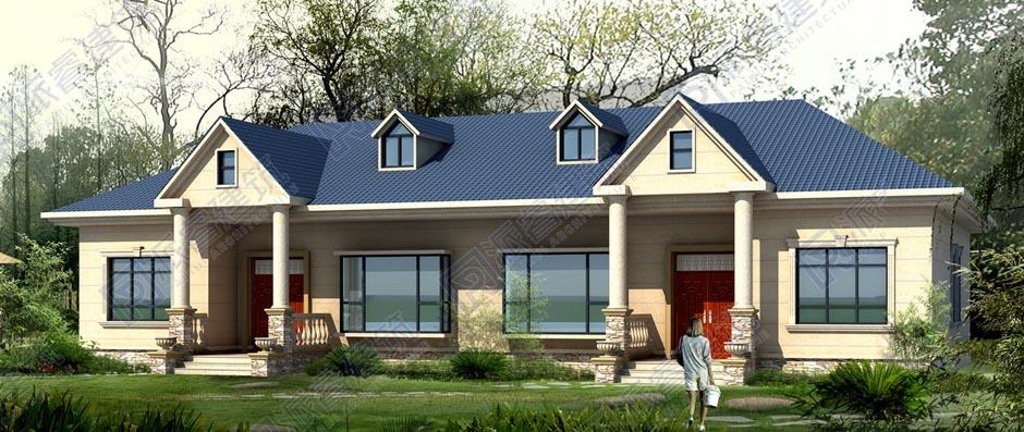 PR516-一层乡村别墅设计图_养老房_农村建房设计图纸