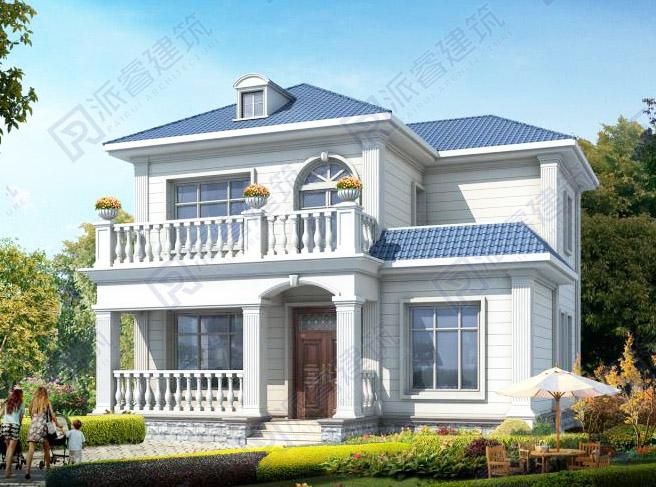 PR497-占地90平农村两层房屋设计图纸_自建房私家别墅设计图