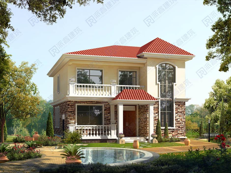 PR163 农村二层小别墅_实用别墅设计图纸,新农村房屋设计图,农村自建房设计,派睿建筑
