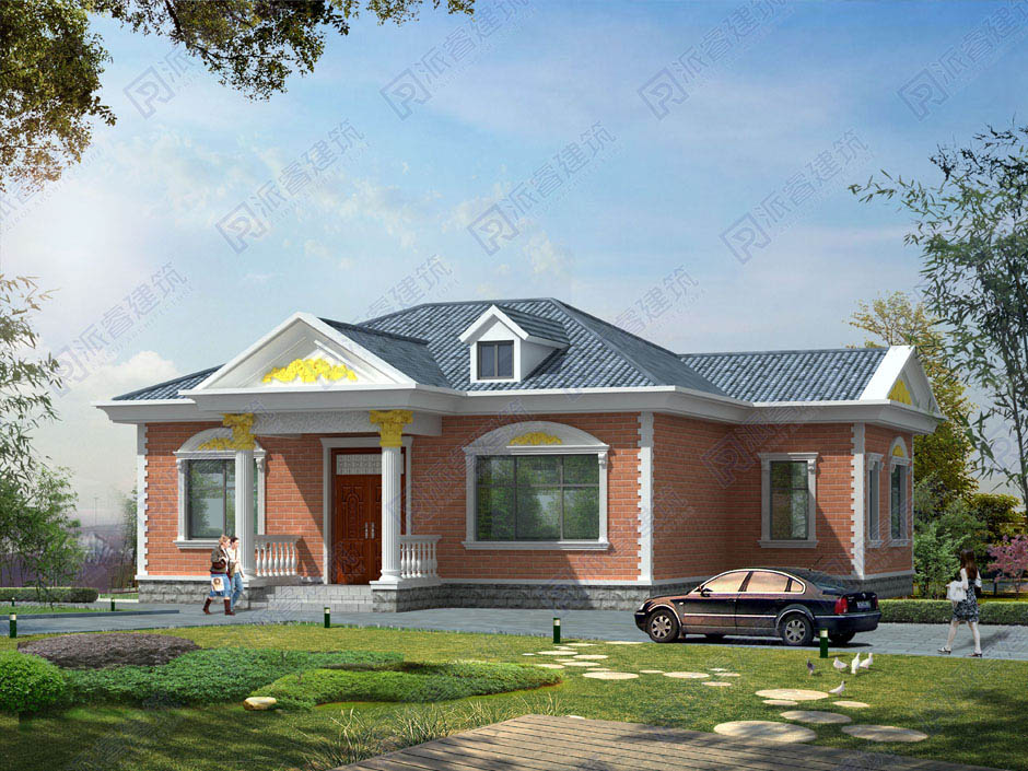 PR254 造價15萬農村一層高端別墅建筑設計圖紙-派睿建筑