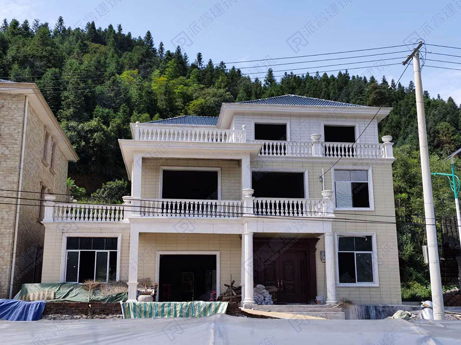 湖南怀化-造价20万左右的农村自建三层房屋设计图纸建成实景