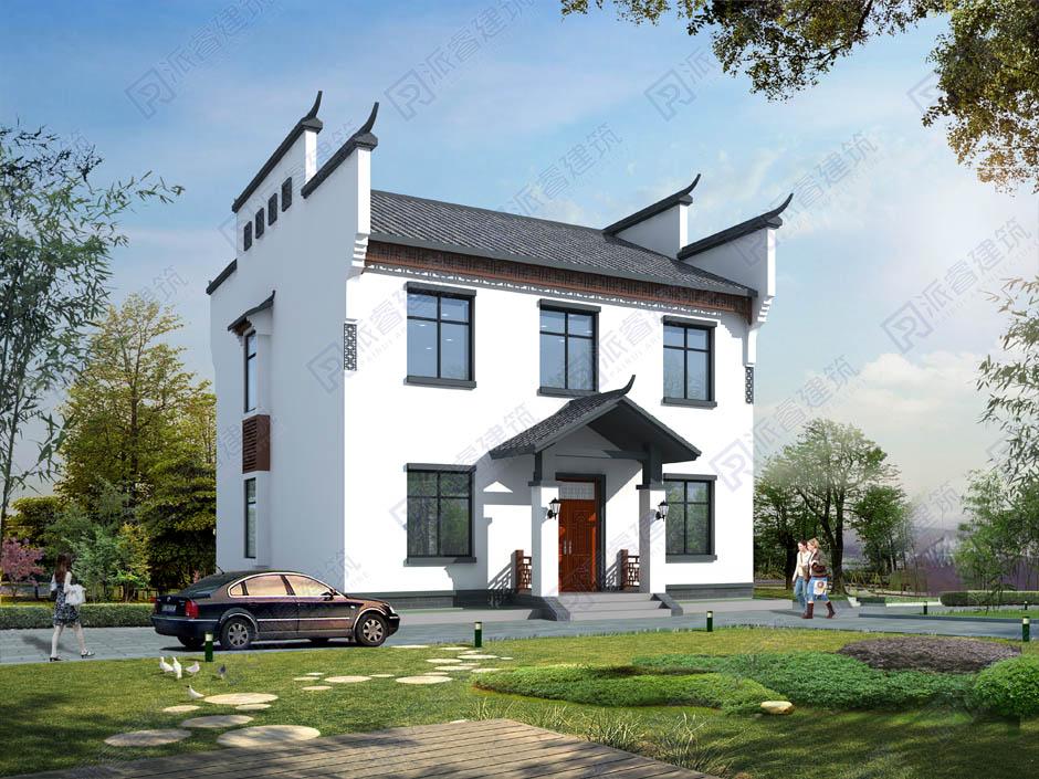 PR283 农村二层小别墅,中式风格实用美观别墅设计图片,新农村房屋设计,农村自建房别墅图片,派睿建筑