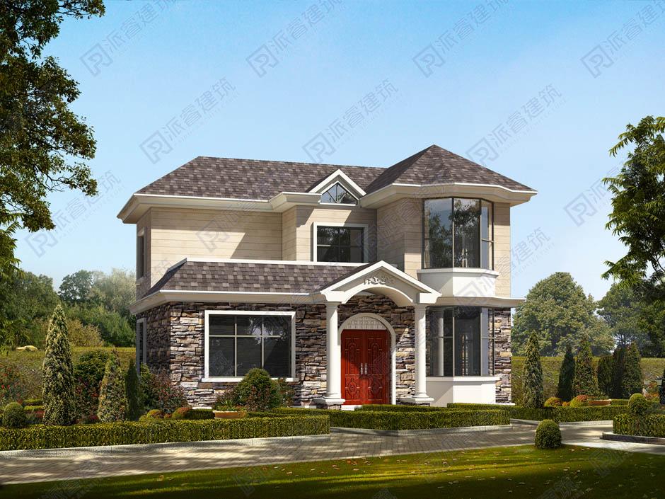 PR164 农村二层小别墅_实用别墅设计图纸,新农村房屋设计图,农村自建房设计,派睿建筑