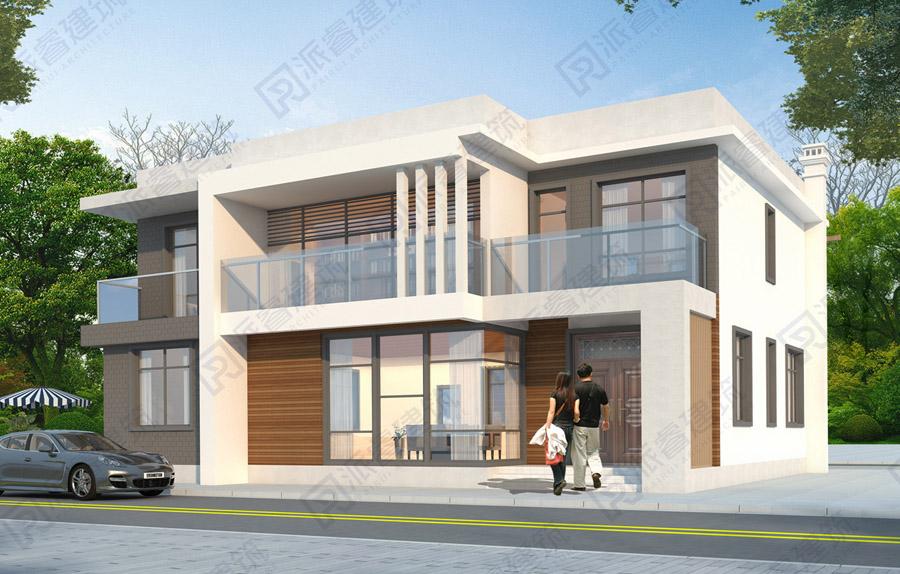 PR559-占地180平米农村现代风格自建房设计效果图二层|户型合理,适合两代人共住