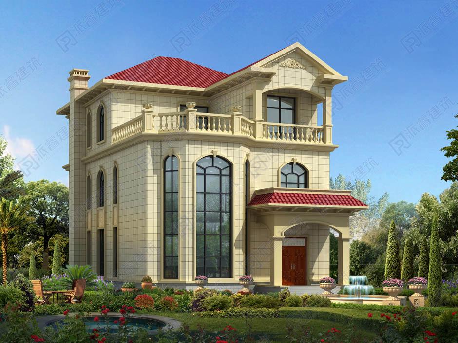 开间10米x进深15米农村建房子设计图,三层复式别墅,南北通透的好户型-PR262