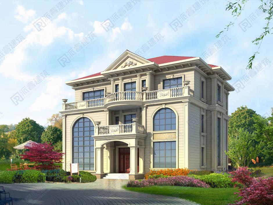 农村自建复式别墅设计图纸带堂屋,外观简约不俗,大气有范-PR454