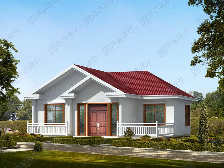 PR275 100平方米实用美观的一层农村自建别墅设计图-派睿建筑