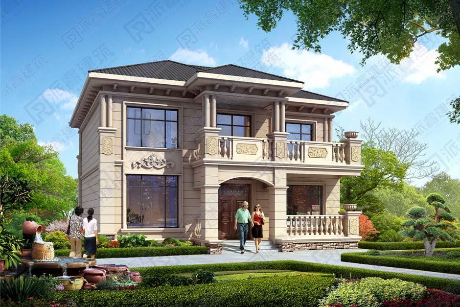私宅别墅设计图|农村二层欧式小别墅建筑设计图纸