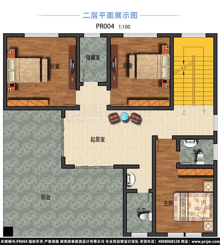 东南亚风格自建别墅外观效果图,造型新颖带超大露台,展现原木自然的热带风情-PR004