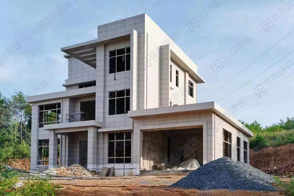 江西九江-200平自建三层现代农村房屋别墅外观设计实景图片