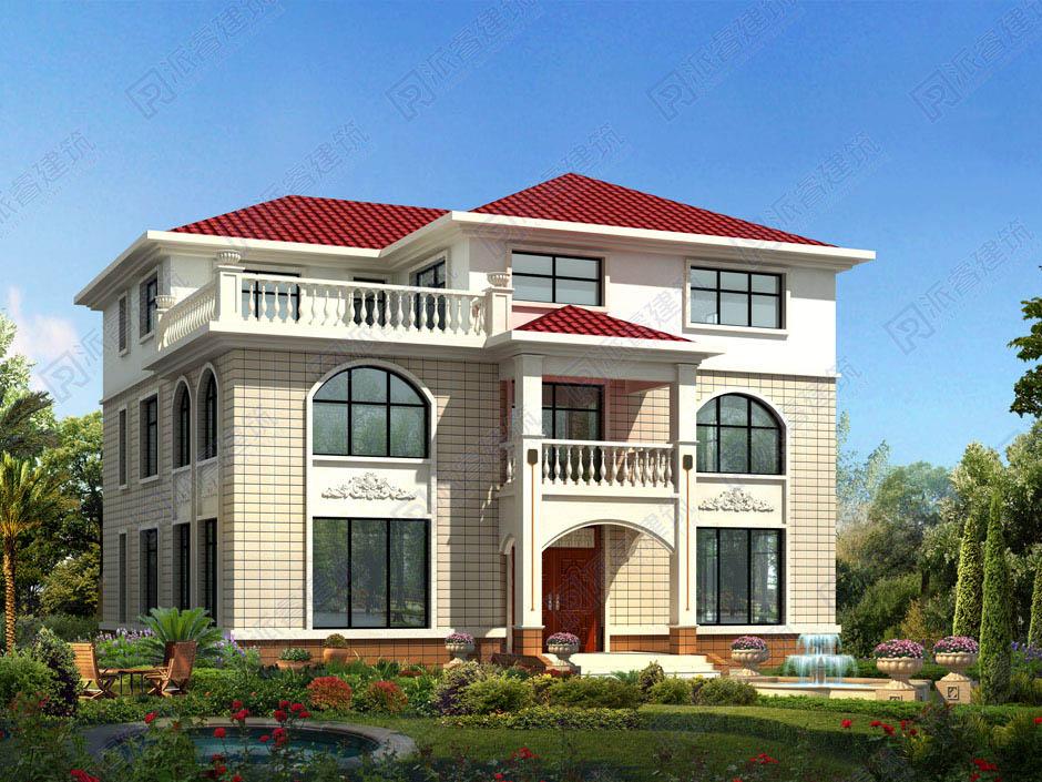 PR050 大气的三层复式客厅欧式别墅设计图纸及效果图