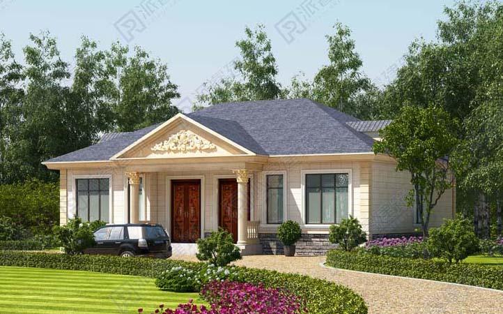 PR056 农村220平米造价18万的高档一层自建别墅效果图纸-派睿建筑