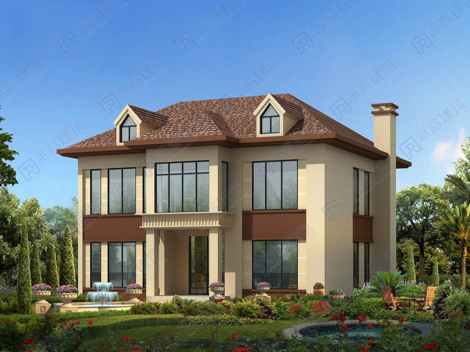 PR268 農村二層小別墅,簡約現代風格實用美觀別墅設計圖片,新農村房屋設計,農村自建房別墅圖片,派睿建筑