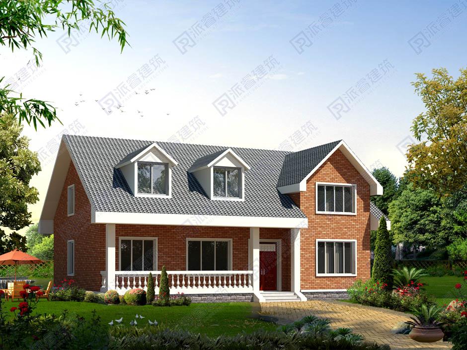 PR192 农村高端160多平米一层别墅设计效果图-派睿建筑