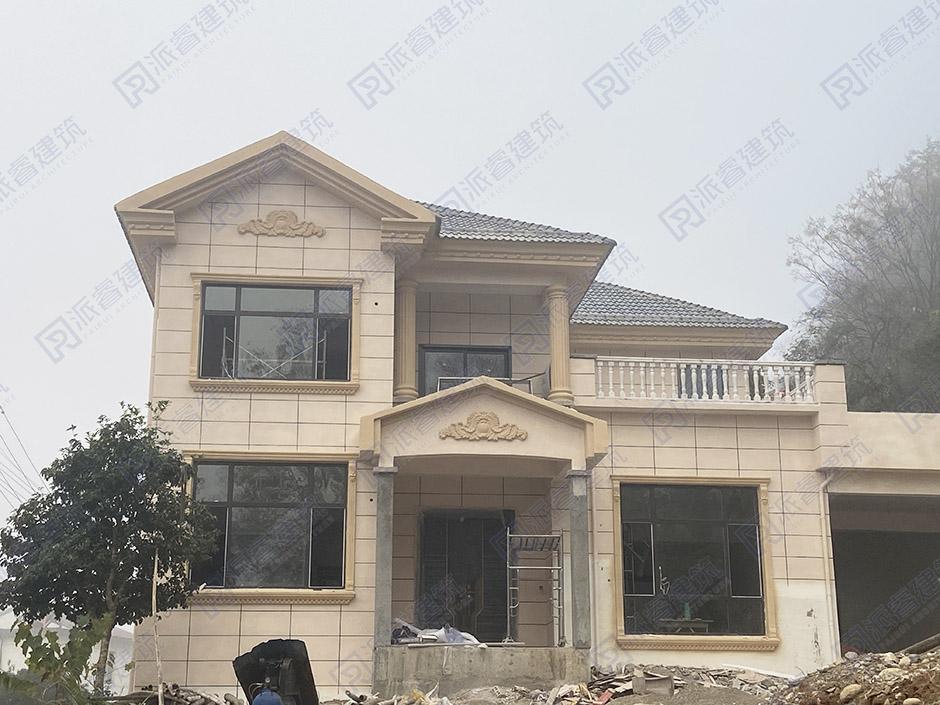 江苏常州-占地150平农村自建二层小别墅设计图片|清新简约-PR002