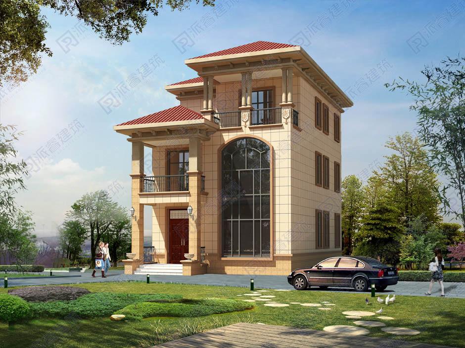 坐南朝北農村小戶型別墅自建房設計圖,寬8米x長12米顏值高-PR162