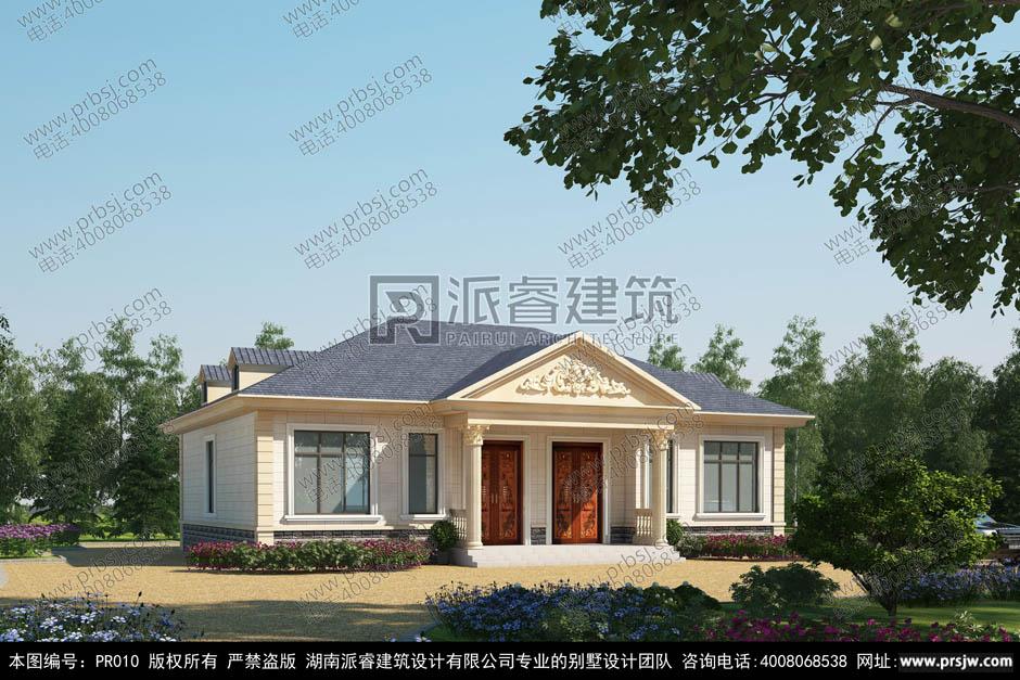 PR010-农村兄弟双拼别墅效果图_200平农村平房房屋设计图