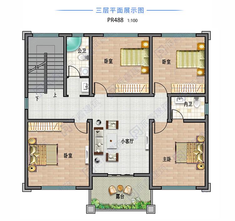 农村自建房屋设计户型图三层.jpg