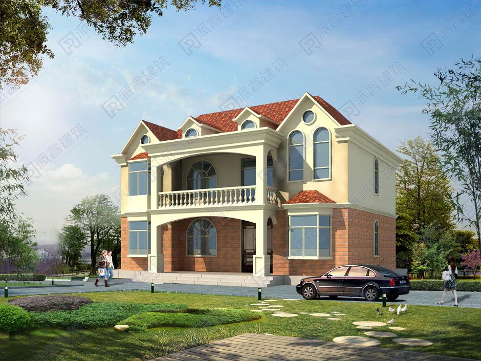 PR343 150平米农村简欧风格二层小别墅建筑设计图-派睿建筑