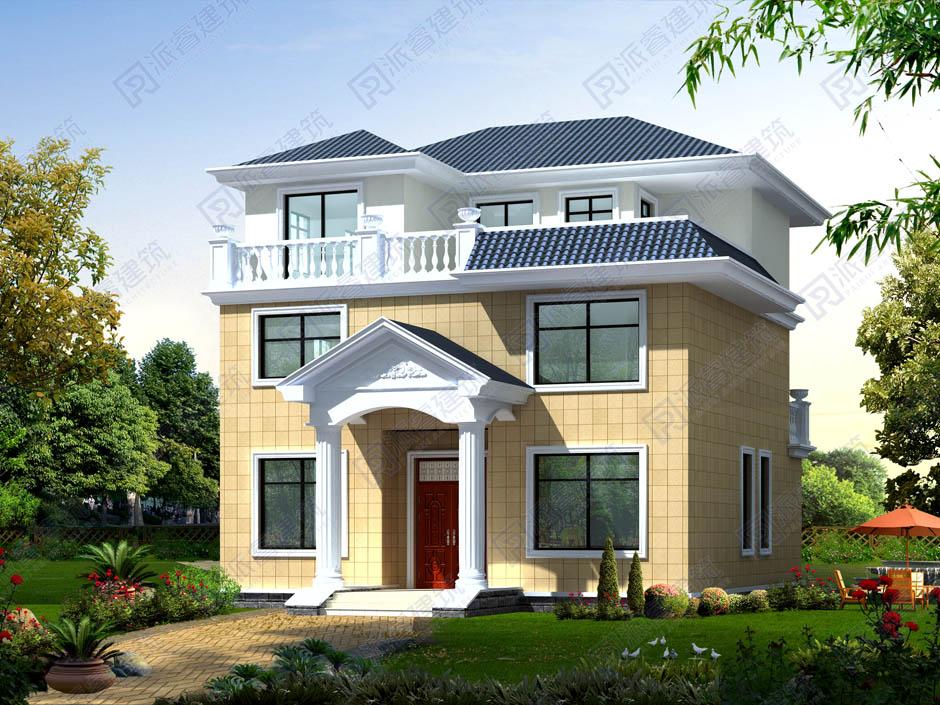 PR029 复式三层欧式别墅家乡建房露台别墅全套施工图纸