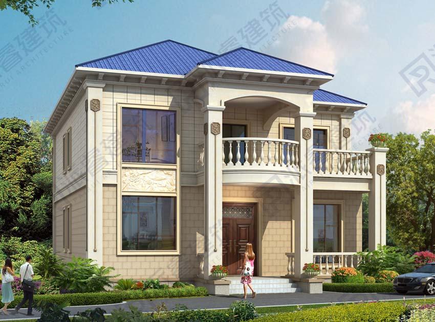 带神位的农村新型自建别墅设计图,10米x15米盖二层楼房屋设计图-PR511