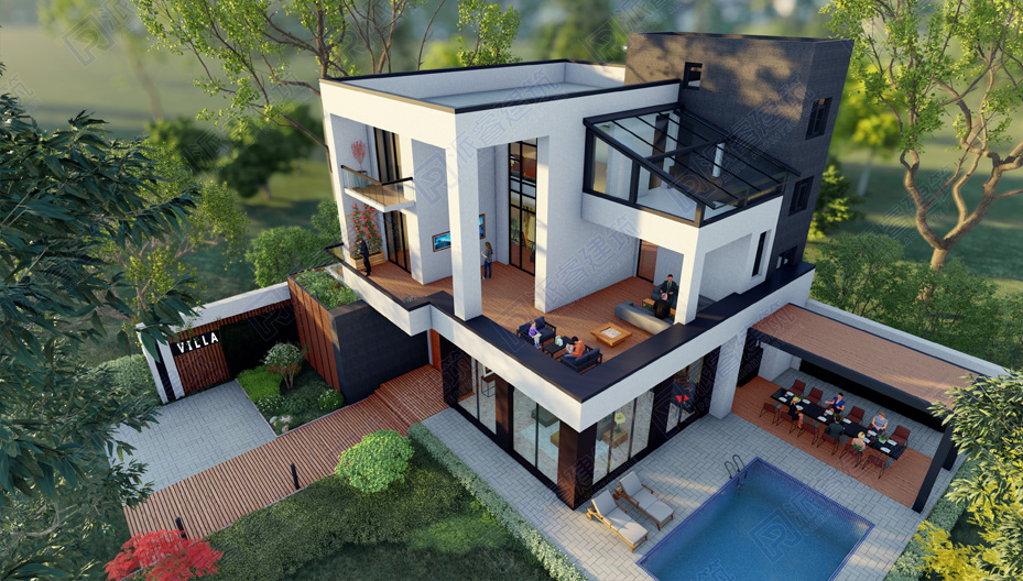 新款2021年流行現代鄉村二層小別墅設計圖兩層,簡直是神仙般的享受!