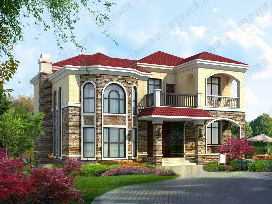PR451 农村欧式大气美观二层别墅设计全套设计,施工图全套图纸-派睿建筑