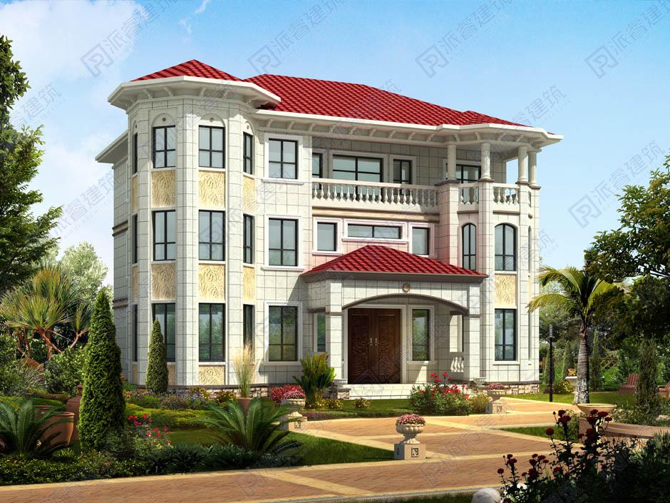 PR033 新农村三层别墅全套图纸豪华欧式别墅自建房