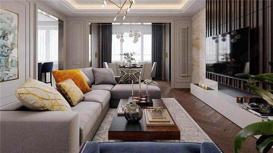 现代时尚室内装修设计效果图