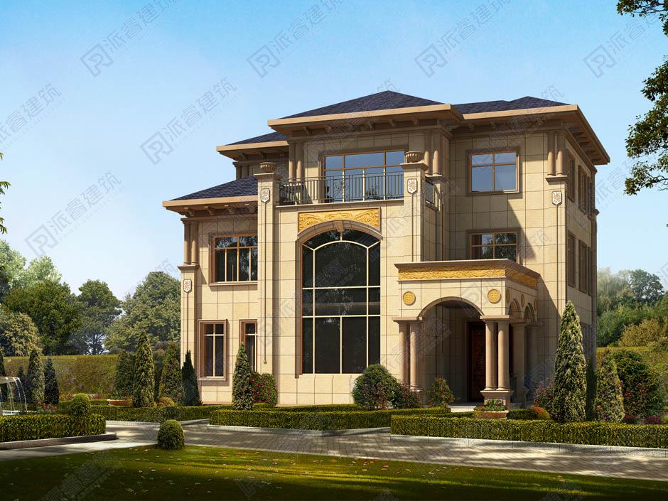 农村自建房图纸大全图册三层,跃层客厅+露台,聚财的好户型-PR147